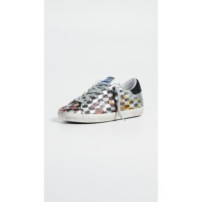 ゴールデン グース Golden Goose レディース スニーカー シューズ・靴 Superstar Sneakers Silver/Black Check