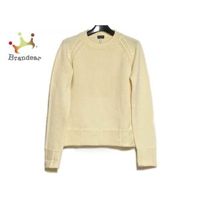 アルマーニジーンズ ARMANIJEANS 長袖セーター サイズ40 M レディース 美品 アイボリー  値下げ 20201128