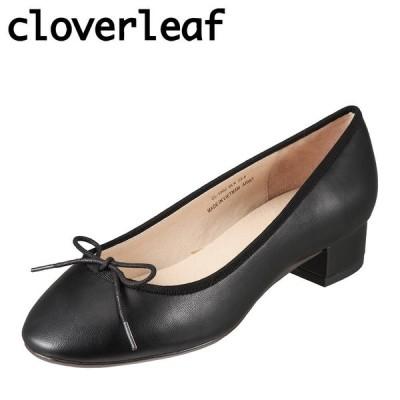 クローバーリーフ cloverleaf CL-1002 レディース   カジュアルパンプス   小さいサイズ対応 大きいサイズ対応   ブラック