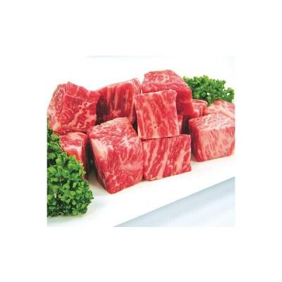 【お取り寄せ】 【G】 国産黒毛和牛ももサイコロステーキ 200g×2   着日指定必須