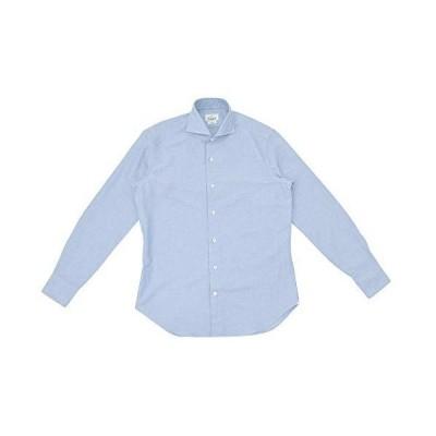 (ジャンネット)GIANNETTO 長袖カジュアルシャツ メンズ コットンシャツ ライトブルー 正規取扱店 41サイズ