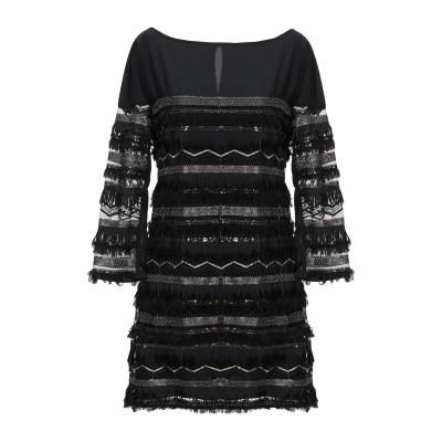 パトリツィア ペペ PATRIZIA PEPE ミニワンピース&ドレス ブラック 42 ポリエステル 100% / プラスティック ミニワンピース&