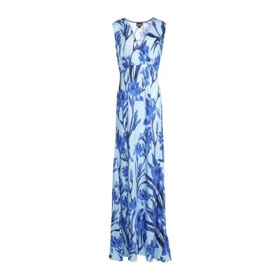 ジャストカヴァリ JUST CAVALLI ロングワンピース&ドレス ブルー 40 レーヨン 100% ロングワンピース&ドレス