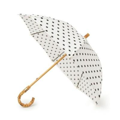 SHIPS for women/シップスウィメン Traditional Weatherwear:バンブーハンドル ドットアンブレラ ホワイト ONE SIZE