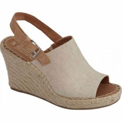 トムス TOMS レディース サンダル・ミュール ウェッジソール シューズ・靴 Monica Slingback Wedge Sandal Natural Hemp/Leather
