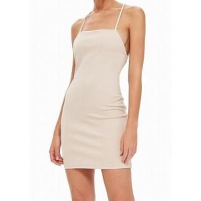Topshop トップショップ ファッション ドレス TopShop NEW Blush Pink Womens Size 8 Scuba Strappy Mini Sheath Dress
