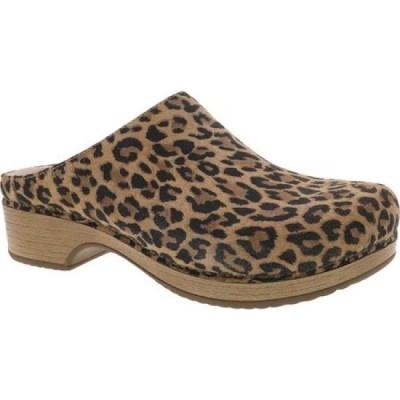 ダンスコ Dansko レディース サンダル・ミュール シューズ・靴 Brenda Mule Leopard Suede