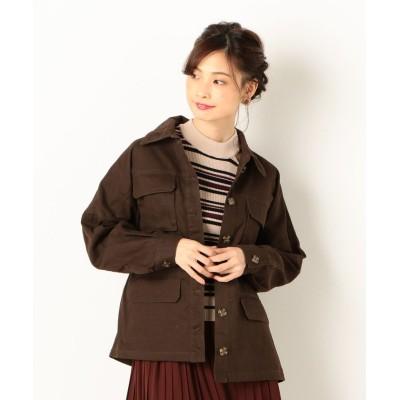 【アルシーヴ】 A-ミリタリージャケット レディース チャコール グレー M archives