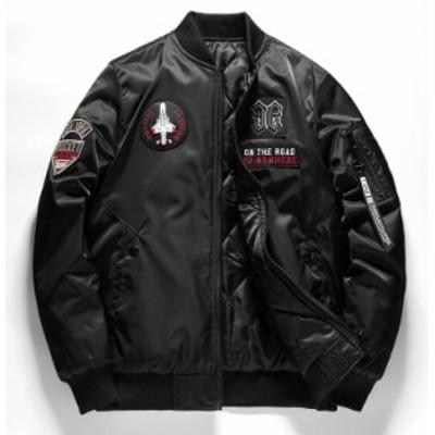 フライトジャケット メンズ 中綿ジャケット 両面着ジャケット 新品セール アウター ブルゾン 野球服   おしゃれ 3色
