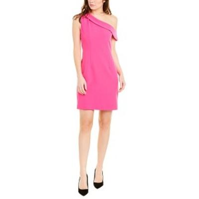 ミリー レディース ワンピース トップス Milly One-Shoulder Sheath Dress raspberry