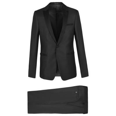 エンポリオ アルマーニ EMPORIO ARMANI スーツ ブラック 50 バージンウール 75% / シルク(マルベリーシルク) 25% スーツ