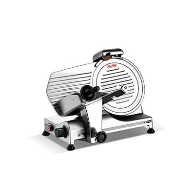 KWS MS-10SL Commercial 320w Electric Meat Slicer 10-Inch Triple Safety Lock