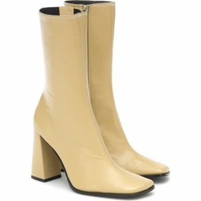 バイ ファー By Far レディース ブーツ ショートブーツ シューズ・靴 Linda Leather Ankle Boots Yellow