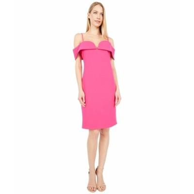 ベベ ワンピース トップス レディース Fold-Over Off the Shoulder Short Dress Fuchsia