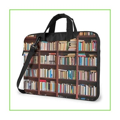 Bookshelf Background Laptop Case 15.6 Inch Carrying Case with Strap【並行輸入】【新品】