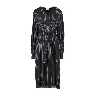 イーチ×アザー EACH X OTHER 7分丈ワンピース・ドレス ブラック XS レーヨン 100% 7分丈ワンピース・ドレス