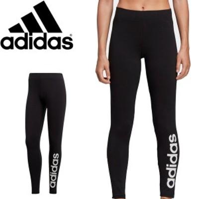 ロングタイツ レギンス レディース アディダス adidas W リニアロゴタイツ/スポーツタイツ フィットネス 女性 スパッツ ボトムス/FRU81
