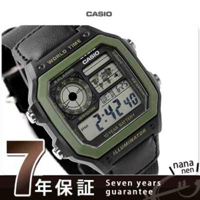 カシオ チプカシ 海外モデル メンズ 腕時計 クオーツ AE-1200WHB-1BVCF CASIO ブラック ナイロンベルト
