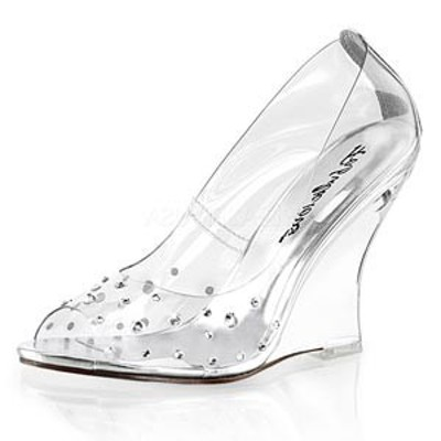 Pleaser プリーザー オープントゥ パンプス Fabulicious LOVELY-420RS 4 Wedge (LOV420RS-C-M) レディース 靴 お取り寄せ商品
