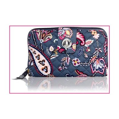 Vera Bradley Signature Cotton Turnlock Wallet with RFID Protection, Felicity Paisley並行輸入品