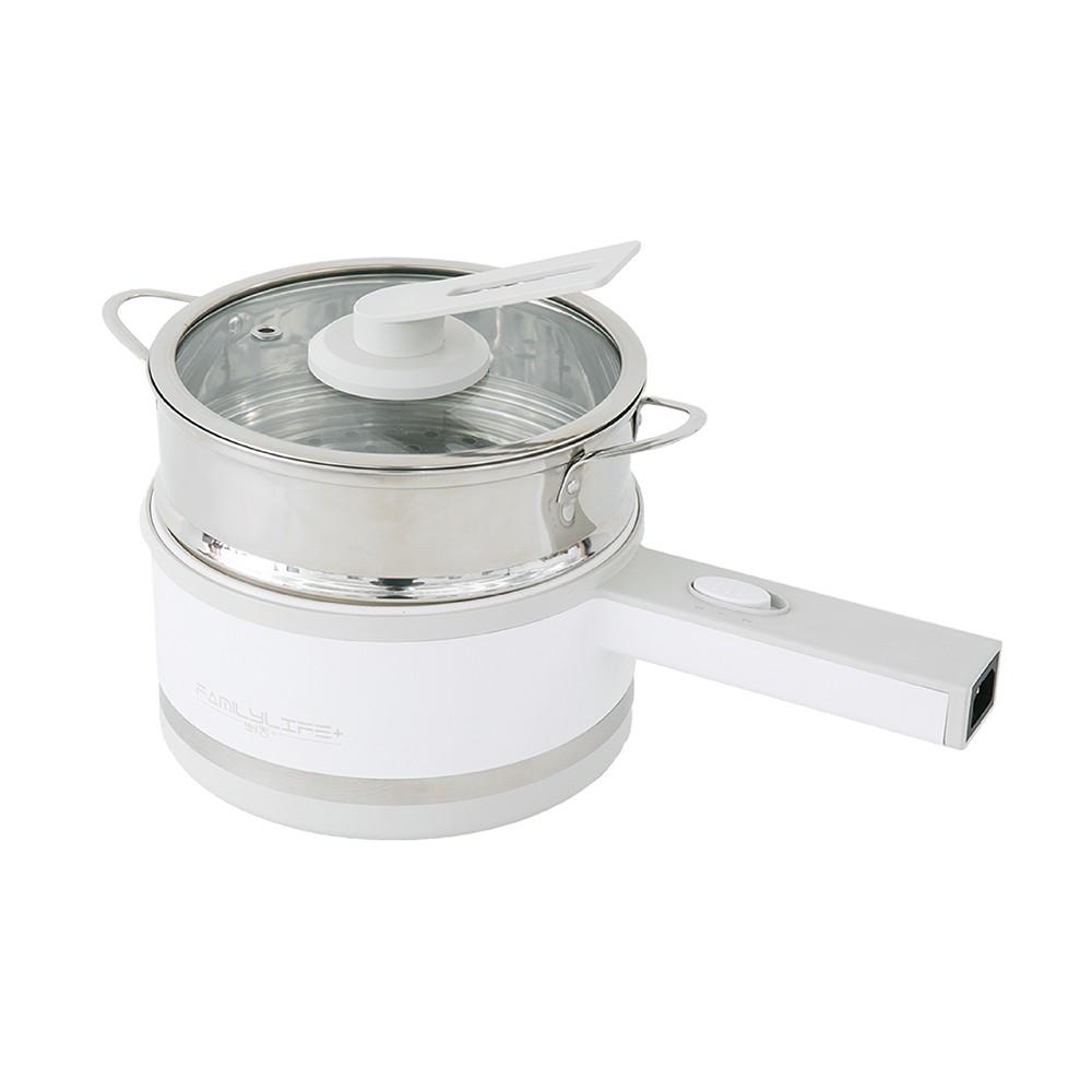 【FL生活+】1.7公升雙層隔熱美食鍋(FL-256) 附蒸籠  電火鍋 快煮鍋 火鍋 小火鍋 料理鍋