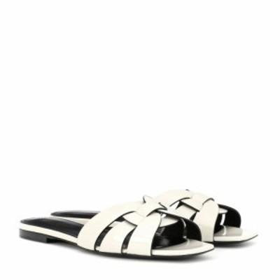 イヴ サンローラン Saint Laurent レディース サンダル・ミュール シューズ・靴 Nu Pieds 05 patent leather sandals Neutro
