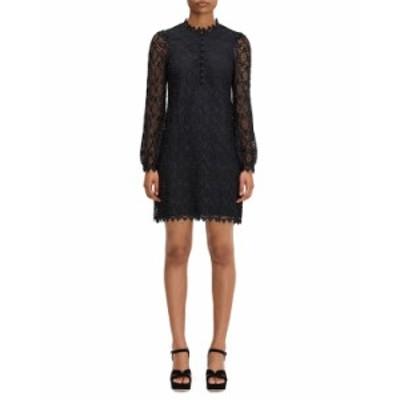 ケイトスペード レディース ワンピース トップス scallop lace mini dress BLACK