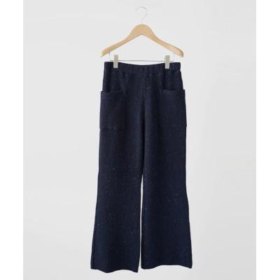 (FIKA./フィーカ)FIKA. Wool knit Pants/レディース ネイビー