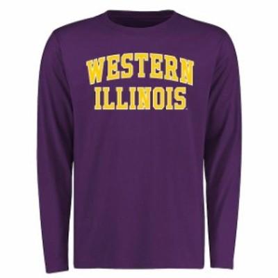 Fanatics Branded ファナティクス ブランド スポーツ用品  Western Illinois Leathernecks Purple Everyday Long Sleev
