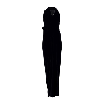リック オウエンス RICK OWENS ロングワンピース&ドレス ブラック 40 レーヨン 83% / シルク 17% ロングワンピース&ドレス