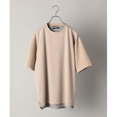 【シップス】 SHIPS: 《Tシャツとタンクトップがセット》 ポンチ レイヤード Tシャツ メンズ カーキ SMALL SHIPS