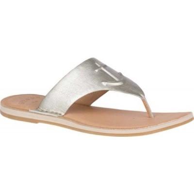 スペリートップサイダー Sperry Top-Sider レディース サンダル・ミュール トングサンダル Seaport Leather Thong Sandal Grey Full Grain Leather