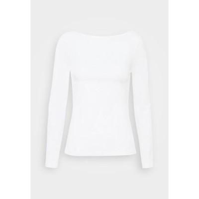 アンナフィールド カットソー レディース トップス Long sleeved top - white