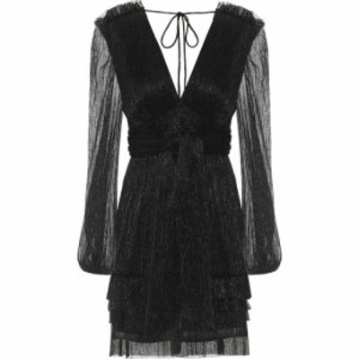 レベッカ ヴァランス Rebecca Vallance レディース ワンピース ワンピース・ドレス Luna plisse-pleated minidress Black