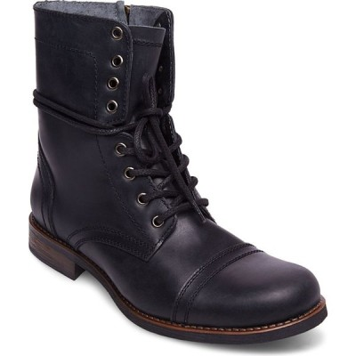 スティーブ マデン STEVE MADDEN メンズ ブーツ シューズ・靴 Troopah-C Cap Toe Boot Black Leather