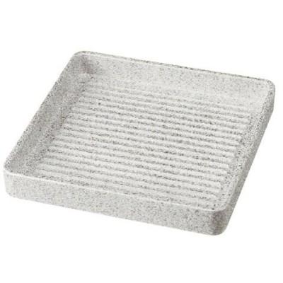(業務用・肉盛皿)ABS角肉皿 御影 14.5cm角(0.5〜1人用)(入数:5)