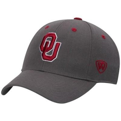 ユニセックス スポーツリーグ アメリカ大学スポーツ Oklahoma Sooners Top of the World Dynasty Memory Fit Fitted Hat - Charcoal