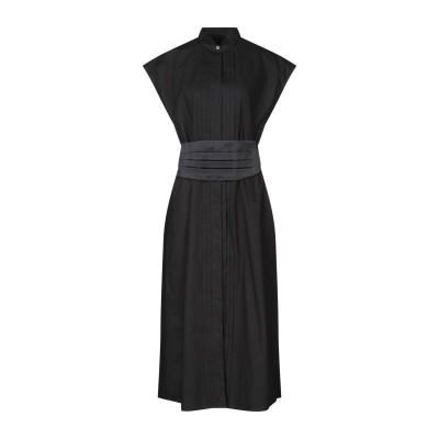 MM6 メゾン マルジェラ MM6 MAISON MARGIELA 7分丈ワンピース・ドレス ブラック 40 コットン 100% / ポリエステル