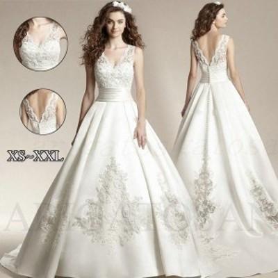 ロングドレス ウェディングドレス パーティードレス カラードレス イブニングドレス 豪華なレース パーティー 結婚式ドレス ワンピース