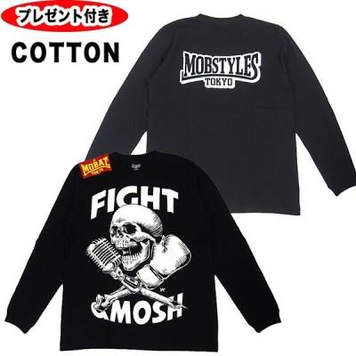 モブスタイルス MOBSTYLES SPORTS PUNKS TEE 長袖Tシャツ 長袖 コットン スポーツパンクス tシャツ モブ ロゴ モッシュ トレーニング