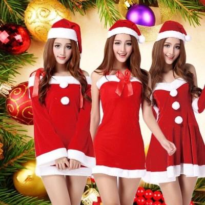 サンタコスプレ クリスマス コスプレ コスチューム サンタクロース サンタコス サンタコスチューム レディース サンタ衣装 ワンピース サンタガール