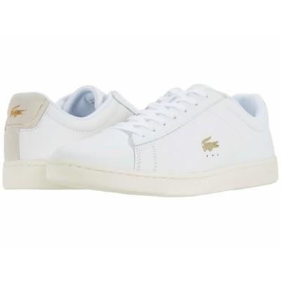 ラコステ スニーカー シューズ レディース Carnaby Evo 0520 1 SFA White/Off-White