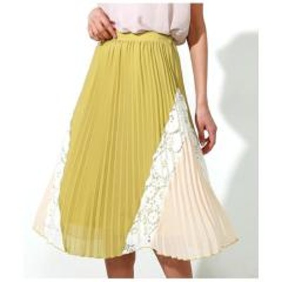 ANAP(アナップ)配色デザインプリーツスカート【お取り寄せ商品】