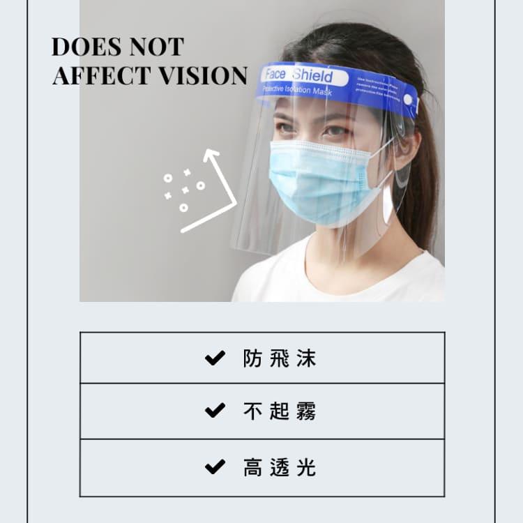 一次性透明防護面罩 防飛沫 抗霧 防護面罩  臉部防護面罩 Unicorn