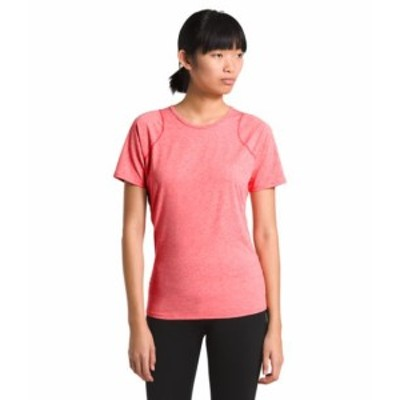 ノースフェイス レディース The North Face ESSENTIAL SHORT-SLEEVE TEE Tシャツ 半袖 CAYENNE RED HEATHER