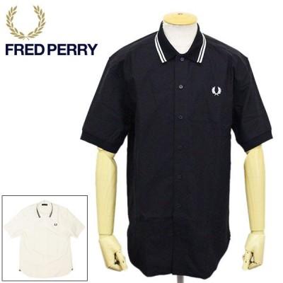 FRED PERRY (フレッドペリー) M8657 KNITTED COLLAR OXFORD SHIRT ニット カラー オックスフォードシャツ 全2色 FP399