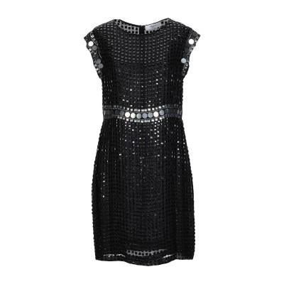 ブルーガール ブルマリン BLUGIRL BLUMARINE ミニワンピース&ドレス ブラック 42 レーヨン 100% ミニワンピース&ドレス