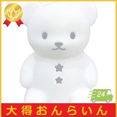 ハシートップイン デザイン小物 おやすみライト こぐま/グレー 12.611.516.5cm EX-3035