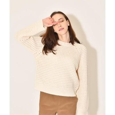 ニット block color knit