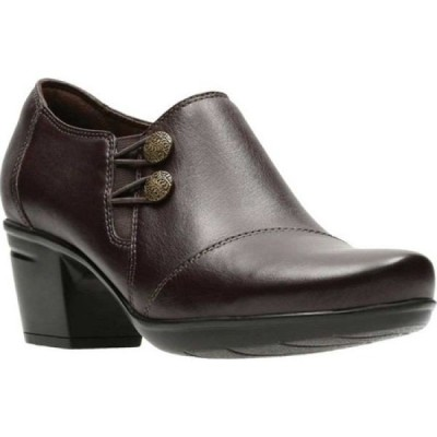 クラークス Clarks レディース ブーツ シューズ・靴 Emslie Warren Bootie Dark Brown Full Grain Leather